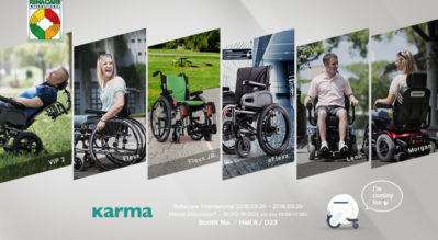 Karma x 2018 Rehacare - The Next Generation of Karma Wheelchair